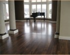 Sanded and sealed dark flooring...