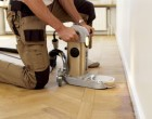 Sanding with the edging machine requires a lot of experience to to produce a good finish.
