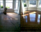 Wood Floor Renovation Before and After